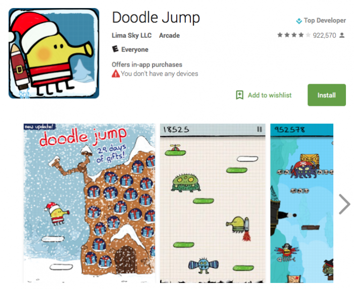 doodle jump holiday