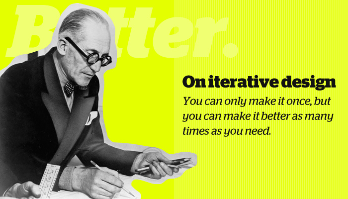 iterative design quote